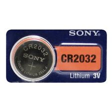 1 SONY CR2032 DL2032 CMOS Lithium 3V Watch Battery Exp 2025 Ships FREE from USA!
