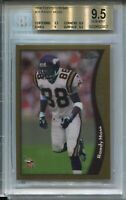 1998 Topps Chrome Football #35 Randy Moss Rookie Card RC Graded BGS Gem Mint 9.5