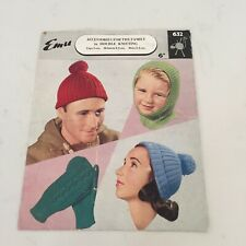 EMU 632 DK knitting pattern - hats and mittens for all the family
