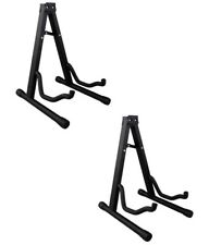2 x Universal Foldable A-Frame Guitar Stand Fits Acoustic Electric Bass Guitars