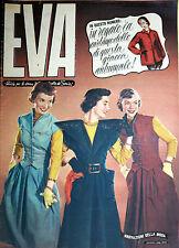"""* EVA N°38/ 16/SET/1950 * Rivista per la donna italiana diretta da """" Sonia """" *"""