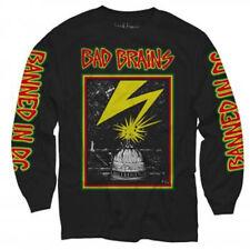 Bad Brains-Capitol -Lightning- Large Black Longsleeve T-shirt