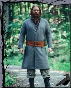 Mittelalter Wikinger Mantel Klappenrock aus Wollgemisch  Leonardo Carbone