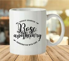 Rose Apothecary Locally Sourced Handcrafted With Care Coffee Mug