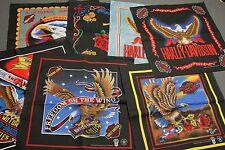 Lot of 8 NOS vtg 80s/90s HARLEY DAVIDSON bandana * handkerchief to match t shirt