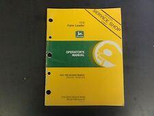 John Deere 175 Farm Loader Operators Manual Om W37999