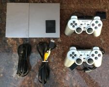 PS2 Playstation 2 Slim Launch Silver Modded Console Mod Free Region Chipped