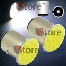 2 Lampade LED Luci Retromarcia 1156 BA15S P21W S25 AUTO 12SMD chips COB 12V