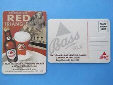 Beer Pub Bar Coaster <> Bass Brewing Co POSTCARD <> Destination Red Triangle <>