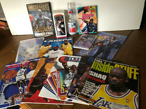 Shaquille O'Neal large lot collectables, magazines, books