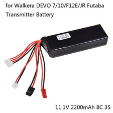 11.1V 2200mAh 8C Lipo Battery For DEVO 7/DEVO 10/DEVO F12E/JR FUTABA Transmitter