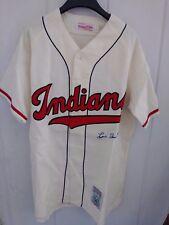 Authentic MITCHELL & NESS Indians Baseball Jersey w/LOU BOUDREAU Autograph