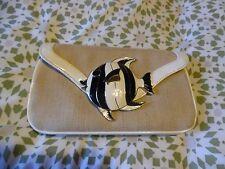 LULU GUINNESS CLUTCH BAG. Pezzo Anteriore Angel Fish. USATO, condizioni eccellenti.