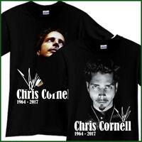 CHRIS CORNELL Soundgarden Rock Band Tribute Song CD Music Black T-Shirt TShirt