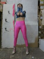 Leggings Hose pink stretch fitness gymnastik 90er TRUE VINTAGE 90s pants sport