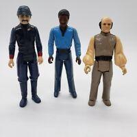 Star Wars Vintage 1980 Lando Bespin Guard Lobot Action Figure Lot Cloud City Set