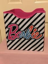 2 Barbie collapsible fabric storage drawers (10 x 10-1/2 x 11 inches)