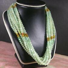 Green Yellow 100% Natural A JADE Jadeite Bead beads Necklace 20 inches 407387 US