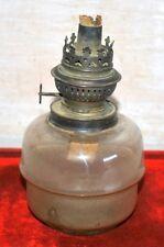 Old Antique Glass Font Kerosene Lighting Lantern  Lamp With Made in Germany