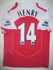 Invincibles! 2004-2005 Arsenal FC Nike Thierry Henry Kit Jersey France Shirt