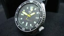 Vintage Seiko Divers 7002 Auto Mod Amarillo Dial Negro Reloj plongue 150m J27.