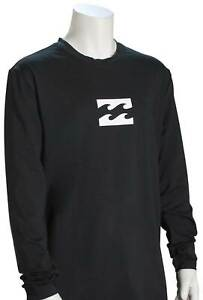 Billabong Boy's All Day Wave LS Surf Shirt - Black - New