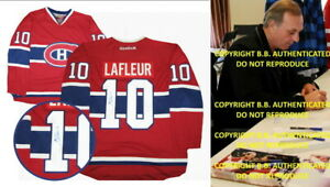 GUY LAFLEUR SIGNED AUTOGRAPHED MONTREAL CANADIENS REEBOK JERSEY + PROOF + COA