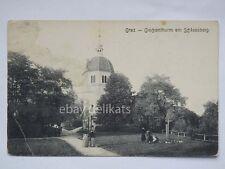 GRAZ Glockenthorm Schlossberg Austria AK old postcard Modiano Trieste