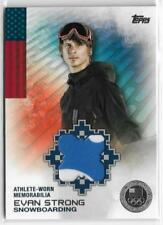 RARE 2014 TOPPS OLYMPIC EVAN STRONG SILVER RELIC CARD ~ 26/50 ~ SNOWBOARDING