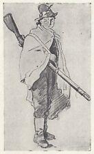 C3045 Combattente delle Cinque Giornate - Stampa d'epoca - 1953 vintage print