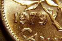 Canada 1979 * Double Date - 1979 * Variety Small Cent Gem BU Red!!