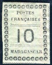 MADAGASCAR 1891 Yvert 9 * seltene Marke 170€(D7622