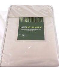 Sand QUEEN 100% BAMBOO Sheet Set Silky Twill x-DEEP Home Environment $325 New