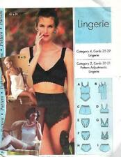Sewing Step by Step LINGERIE 1993 Misses Sizes 4 - 22 Uncut Bras Panties & More