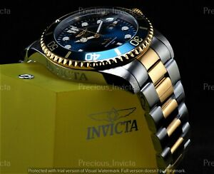 ➤➤Invicta Men 43mm Pro Diver PROFESSIONAL SUBMARINER Blue Dial Two Tone SS Watch
