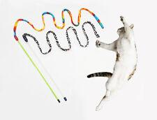2 x Charmer Cat Kitten Toy Flying Teaser Wand Stick + Free Catnip + Matatabi