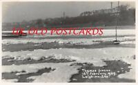 Essex - LEIGH ON SEA, The Frozen Thames, Real Photo - Feb 12th 1929 ,  # 2