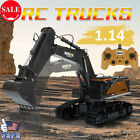 22 Channel Alloy Excavator 1:14 RC Truck Outdoor Sand Boys Birthday Gift Toy US