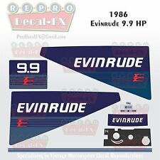 1986 Evinrude 9.9 HP Outboard Reproduction 9Piece Marine Vinyl Decals Two Stroke