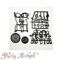 Sugarcraft Patchwork Cutters -DISCO DANCERS- Cake Craft Girly 70s Musical Notes