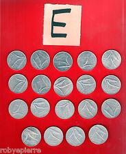 19 monete 10 lire repubblica italiana dal 1951 al 1956 dal 1971 al 1985 lotto E