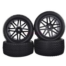 RC 1:10 Off-Road Car Buggy Front & Rear Rubber Tyre Tires &Wheel Rim 66046-66056