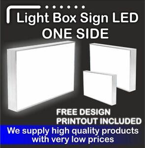 Illuminated Light Box Shop Sign (FREE DELIVERY + FREE DESIGN) - 110 cm x 110cm