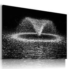 WATER DROPS FOUNTAIN RAIN PRINT CANVAS WALL ART PICTURE  AB9 X MATAGA