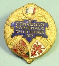 DISTINTIVI TOURING CLUB 1912 CONVEGNO NAZIONALE DELLA STRADA SMALTI OLD BADGES