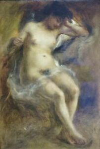 Pierre Auguste Renoir  Naked Woman Sitting  Paintin  A0 A1 A2 A3 A4 Photo Poster