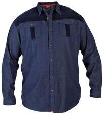 Camisas casuales de hombre en color principal azul vaquero