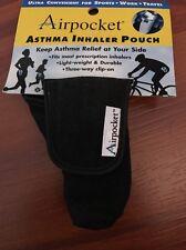 Airpocket Asthma Inhaler Pouch Black