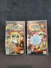 **SET** Naruto: Ultimate Ninja Heroes 1 AND 2  (Sony PSP) Both CIB