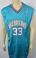 NWT Reebok NBA Authentic N.O. Hornets Bass #33 Basketball Jersey Sz XL *Printed